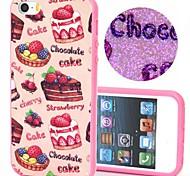torta e modello cioccolato plastico / TPU 2 in 1 disegno caso della copertura posteriore per iPhone5 / 5s