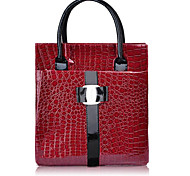 Handbag Faux Leather Top Handle Bags With Feather/Fur (Vertical Version)