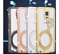 Diamond Aluminium Alloy Mobile Phone Case for Samsung Galaxy Note 4