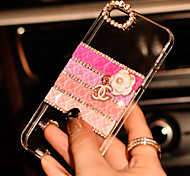 For iPhone 6 Case / iPhone 6 Plus Case Rhinestone / Transparent Case Back Cover Case Glitter Shine Hard PCiPhone 6s Plus/6 Plus / iPhone
