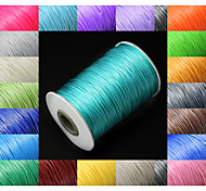 Beadia 160M/Roll 1mm Korean Waxed Cotton Cord  29 Colors U-Pick Beading String