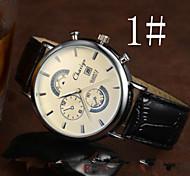 la lumière bleue de la mode calendrier étanche montre l'affaire des hommes vraiment de montre à quartz de ceinture