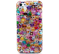 Lovely Face Pattern Ultra Thin Soft TPU Back Cover Case for iPhone 5C
