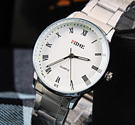 Women's Leisure Round Rome Number Dial PC Movement Stainless Steel Strap Fashion Waterproof Quartz Watch