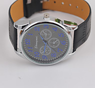Women's Personality Type Dial PU Strap Ladies Watches