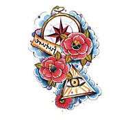 OEM - Tatuajes Adhesivos - Non Toxic/Modelo/Parte Lumbar/Waterproof - Series de Flor/Series de Tótem - Hombre/Adulto/Boy/Juventud - Negro