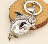 Cute Rhinestone Dolphin Keychain