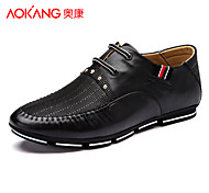 Aokang Men's Shoes Outdoor/Athletic/Casual Leather Fashion Sneakers Black