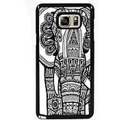 o projeto do elefante fino de metal de volta caso para Samsung Galaxy nota 3 / nota 4 / nota 5 / nota 5 borda