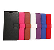 tampa articulada entradas fenda simples grão lichia pu moda shell telefone celular samsung nota 5 todos os tipos de cor