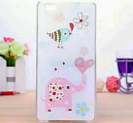 telefono tpu dipinto di caso per huawei p8 lite
