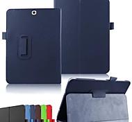 dengpin pu textura litchi cuero con cubierta del soporte caja de la piel para samsung galaxy tab s2 9,7 t815 T810 (colores surtidos)