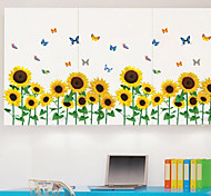 Multifunction DIY PVC Sunflower and Butterfly Pattern Decorative Stickers