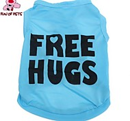 "FUN OF PETS® Lovely ""FREE HUGS"" Pattern Terylene Vest for Dogs (Assorted Sizes)"