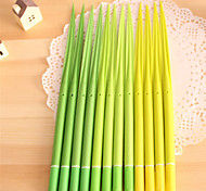 Cute Grass Ballpoint Rubber Leaf Ball Pen For Office Room School
