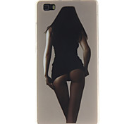 Back Cover Pattern Sexy Lady TPU Soft Case Cover For Huawei Huawei P8 Lite