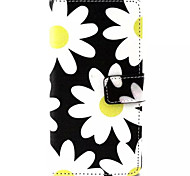 Flower  Pattern PU Leather Phone Case For Sony M4