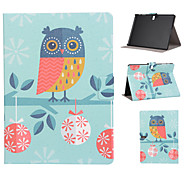 For Samsung Galaxy Case Card Holder / with Stand / Flip / Pattern Case Full Body Case Owl PU Leather SamsungTab 4 10.1 / Tab S 10.5 / Tab