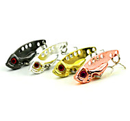4 pcs Hard Bait / Metal Bait / Vibration/VIB / Fishing Lures Vibration/VIB / Metal Bait / Spoons Black / Pink / Gold / Silver 7 g/1/4 oz.