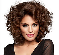 New Arrival Deep Brown Curly Fashion Woman's Short Wig