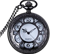 Fashion Hollow Out Petal Shape Vintage Alloy Quartz Analog Pocket Watch With Chains (1 x LR626)