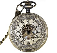 Men's Retro Hollow Out Roman Numbers Mechanical Pocket Watch Brand New Mechanical Hand Wind Watches