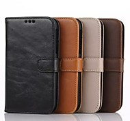 Crazy horse Wallet Case Card Slot  Crazy Horse Business PU Mobile Phone Shell for Blackberry Q20 Assorted Colors