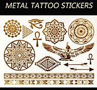 Brand New - Tatuajes Adhesivos - Non Toxic/Tribal/Parte Lumbar/Waterproof - Series de Joya/Series de Flor/Series de Tótem/Otros -