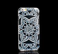 cubierta del patrón de flor mandala azteca para el iphone 6 más para el iphone 6 más