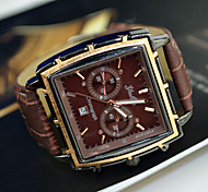 Men's Watch Dress Watch Calendar Rectangle Dial Wrist Watch Cool Watch Unique Watch