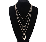 HUALUO®European and American Wild Multilayer Circle Necklace