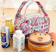 isolado piquenique saco térmico tote almoço saco de viagem de armazenamento térmico (cor aleatória)