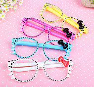 Glasses 2 Ball Pens Novelty Kids Toys School Office Gift Cute Cartoon Stationery(4PCS)