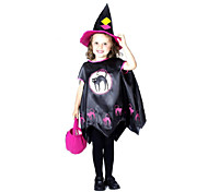 Cool!Halloween Witch Suit  for Little Girls  3 Pieces  Cloak ,WitchHat  and Handbag ,ittle Girls Costume