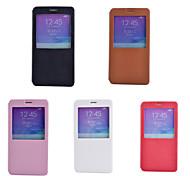 venster ultradunne pu lederen full body case met standaard case voor Samsung Galaxy Note 5 / note4 (verschillende kleuren)