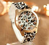 Moda venda quente relógio de couro leopardo das mulheres grão 2015
