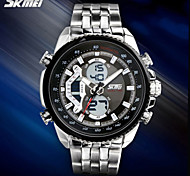 SKMEI® Men's Military Design Sport Watch Silver Steel Analog-Digital/Calendar/Chronograph/Alarm