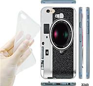 maycari®camera Muster TPU weiche transparente Tasche für iPhone 6