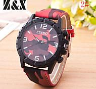 Men's  Fashion Scrub Quartz Analog Steel Camouflage Belt Wrist Watch Cool Watch Unique Watch
