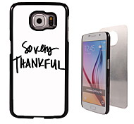 So Very Thankful Design Aluminum High Quality Case for Samsung Galaxy S6 SM-G920F