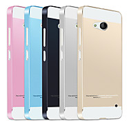 Metal Frame Acrylic Mirror Backplane Metal Hard Case for Microsoft Lumia 640 (Assorted Colors)