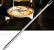 нержавеющей кофе крючком иглой резные Рисованные цветы резной причудливый кофе иглу (1 шт)