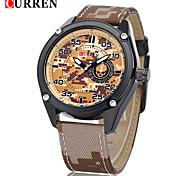 CURREN® Men's Army Design Military Watch Japanese Quartz Leather Strap