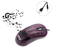 Ergonomics Design Speaker 3202 Wired Audio Music Multifunctional Mouse Optical Mice Computer Accessories for Laptop PC
