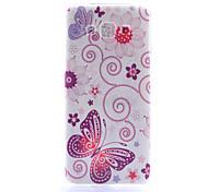 motif papillon mince matériau TPU étui transparent de téléphone pour Samsung Galaxy a8 / A3 / A5 / A7