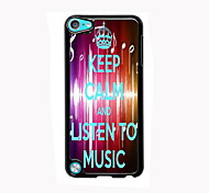 ouvir música de alumínio design de caso de alta qualidade para o iPod touch 5