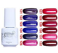 Sequins UV Color Gel Nail Polish No121-132 (5ml, Assorted Colors)