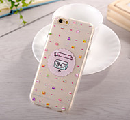 Hamburger Pattern TPU Soft Case for iphone 6