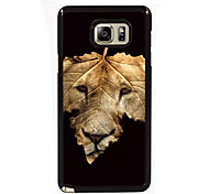 de leeuw en de sprong ontwerp slanke metalen achterkant van de behuizing voor Samsung Galaxy Note 3 / noot 4 / note 5 / note 5 rand