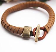 Fashion Vintage Leather Rope Woven Bracelet